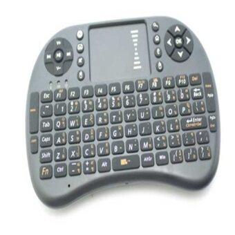 ซื้อ/ขาย Mini Wireless Keyboard 2.4 Ghz Touchpad มีพิมพ์ภาษาไทยบนตัว สำหรับ Android tv box , mini pc, windows ( สีดำ)