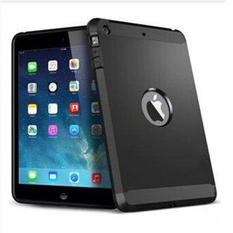 Moonar เคสกันกระแทกชุดเกราะกำบัง Hydrid ย้อนกลับสำหรับ iPad Mini 2(สีดำ)