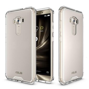 Mooncase for Asus Zenfone 3 ZE552KL Anti Shock Transparent BackCase Soft Thin TPU Case Cover Pink