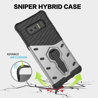 MOONCASE for Samsung Galaxy Note 8 case 360°Rotate Kickstand ShellHybrid Shock-Absorbing Dual Layer Durable Armor Case Cover (AsShown) - intl - 5