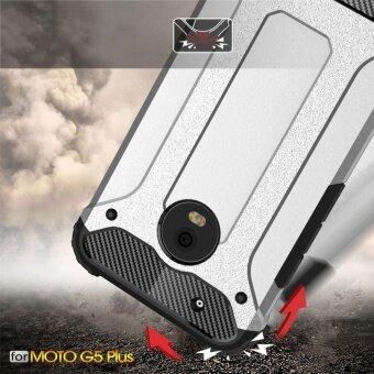Moto G5 Plus Case Armor Series Shock-proof Impact HardPolycarbonate Cover + Inner Soft Rubber 2 in 1 Rugged Case forMotorola Moto G5 Plus - intl - 3