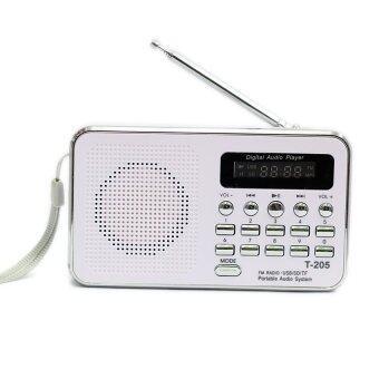 ลำโพงวิทยุ ลำโพง Mp3/USB/SD Card/Micro SD Card รุ่นT-205 (สีขาว)
