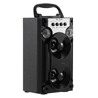 MS - 206BT Bluetooth Speaker FM Radio TF Card Music Player Black