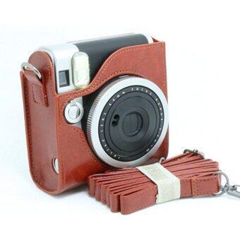 Mulba PU Leather Fuji Mini Case Bag for Fujifilm Instax Mini 90\nBrown C571