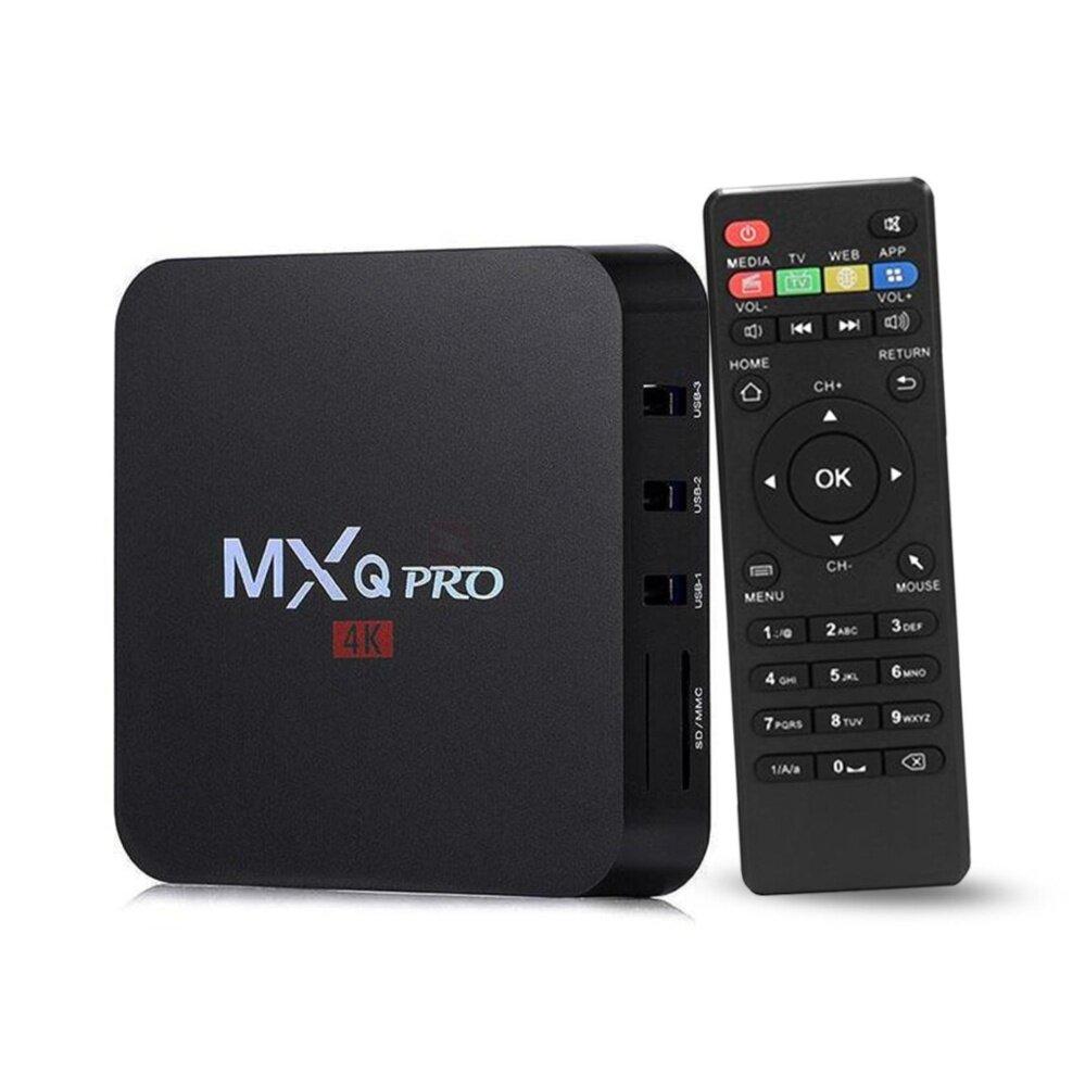 ทำบัตรเครดิตออนไลน์  บึงกาฬ MXQ Pro Smart Box Android 7.12 Amlogic  4K Quad Core 64bit 1GB/8GB by Egreat (สีดำ)