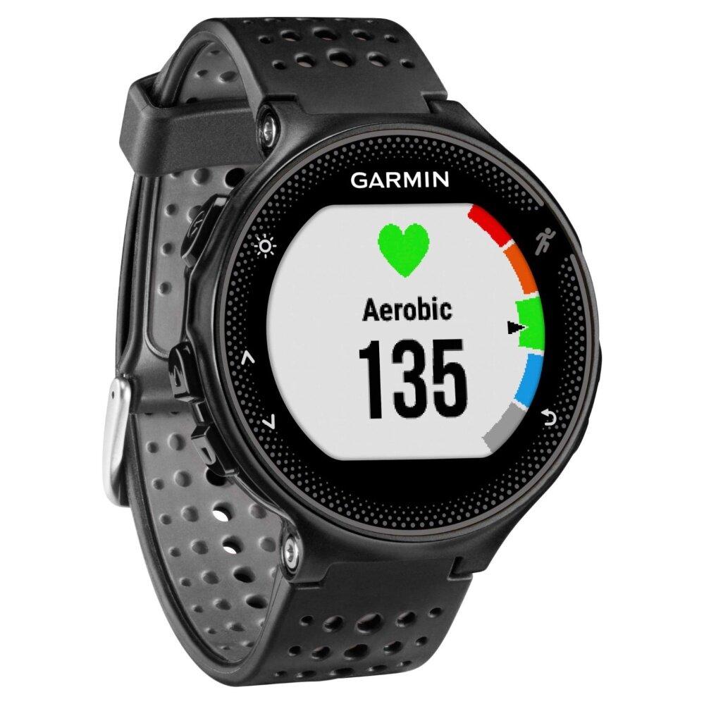 ยี่ห้อนี้ดีไหม  ชัยนาท สินค้าขายดี Garmin Sport Watch Forerunner 235  Gray/Black GPS tracking นับก้าว วัดชีพจร สีเทาดำ มีเมนูภาษาไทย ประกันศูนย์ไทย (เสียเปลี่ยนตัวใหม่)