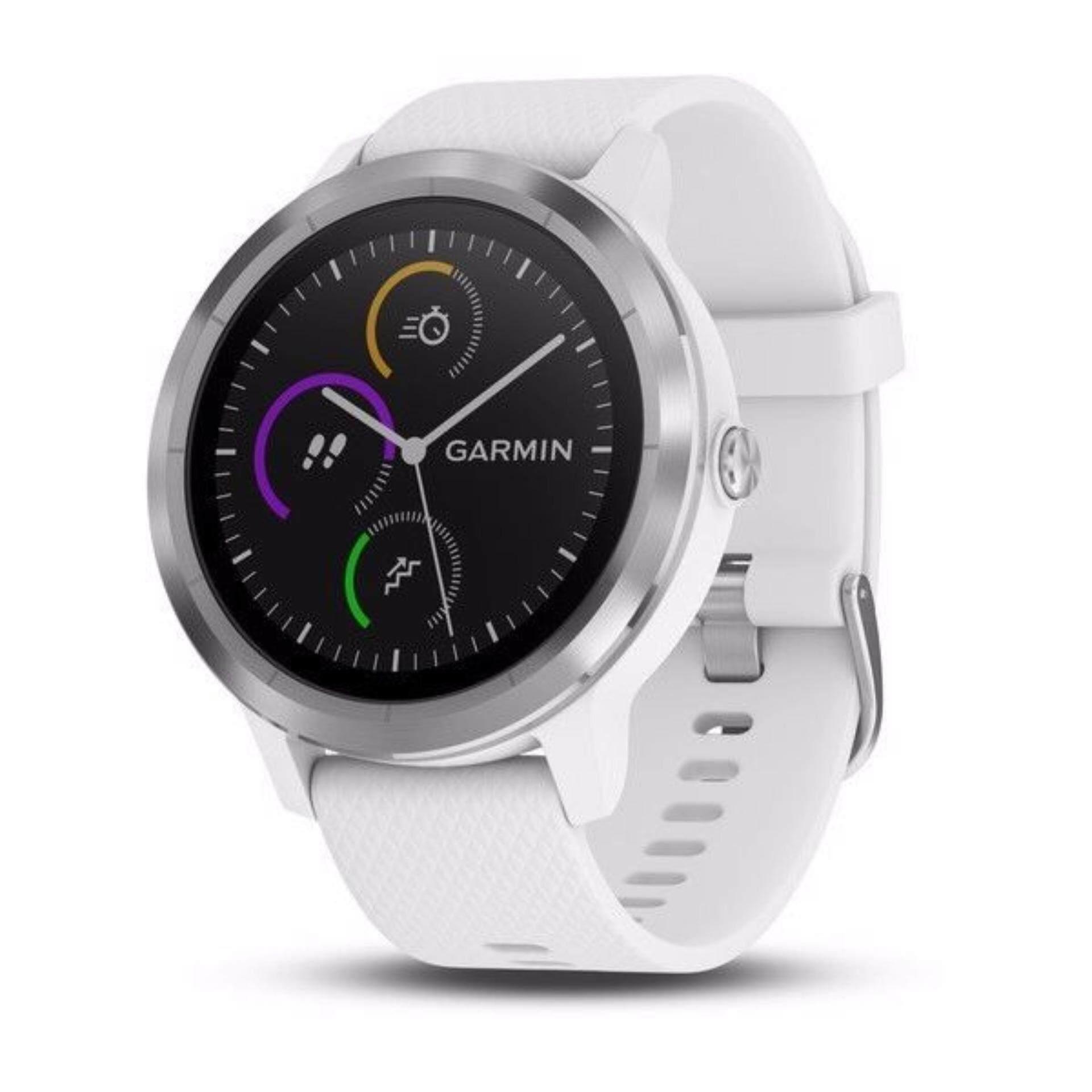 ตราด New arrival !!!! Garmin vivoactive 3 White&Stainless นาฬิกาอัจฉริยะ