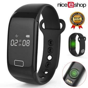 niceEshop นาฬิกาอัตราการเต้นของหัวใจที่มีแคลอรี่และนักหลับหน้าจอสำหรับกีฬาการออกกำลังกายออกกำลังกายวิ่ง