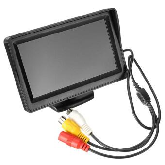 niceEshop 43นิ้วสำรองมอนิเตอร์และกล้องมองหลังชุดที่มีสายไฟสำหรับรถยนต์ระบบย้อนกลับ car cameras