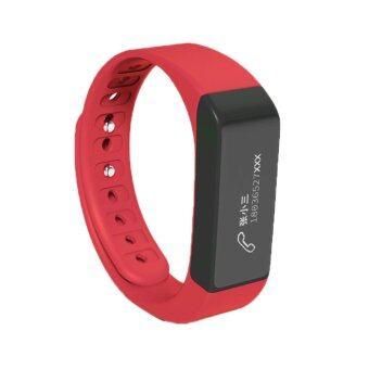 niceEshop บลูทูธสายรัดข้อมือเจ็บ 4.0 กันน้ำเครื่องตรวจวัดกิจกรรม Smartband (สีแดง)