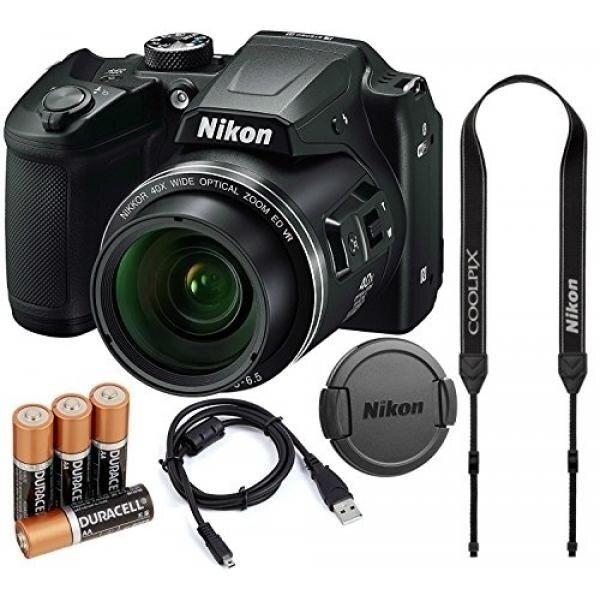 Nikon COOLPIX B500 16MP 40x Optical Zoom Digital Camera Bundle W Batteries Cap Cables