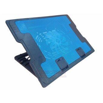 พัดลมระบายความร้อนโน๊ตบุ้คสีดำ/น้ำเงิน Notebook Coolingpad N88ฟรีแผ่นรองเมาส์