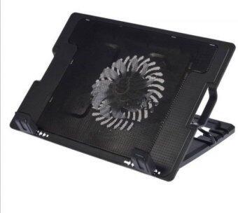 NoteBook Stand & Cooling Padพัดลมระบายความร้อนโน๊ตบุ๊คปรับระดับได้ (สีดำ)ฟรีแผ่นรองเมาส์ (image 1)