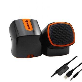 ราคา Nubwo Stereo Gaming Speaker รุ่น DIZZEE NS002 (สีส้ม)