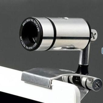 กล้องเว็ปแคม OEM USB2.0 Clip-on Webcam Camera HD 1800 Megapixels Camera for Computer PC Laptop (Silver)