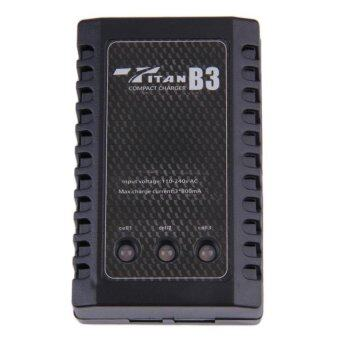 Oh Ac 100-240V 2S-3S Li-Po Balance Charger For 7.4-11.1V RcBatteryus Plug Black