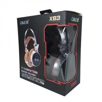 OKER 7.1 VIBRATION GANING HEADSET หูฟังเกมมิ่ง รุ่น X93 (สีดำ) (image 1)