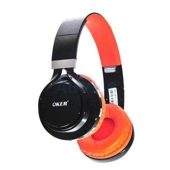 2561 OKER Headphone Bluetooth BT-155 (Black/Orange)