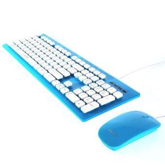 ประเทศไทย OKER Keyboard (2in1) USB (KM-2068) Blue
