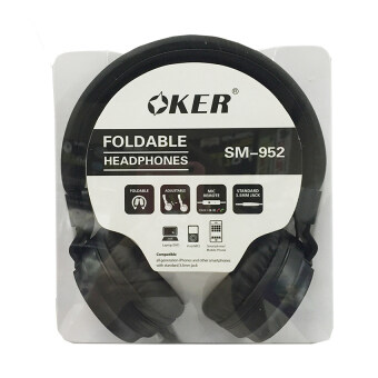 OKER หูฟังแบบครอบหู สำหรับมือถือ/คอม รุ่น SM-952 (Black) (image 3)