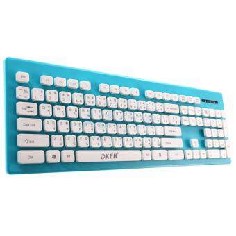 2561 OKER USB Keyboard (KB-188) Blue