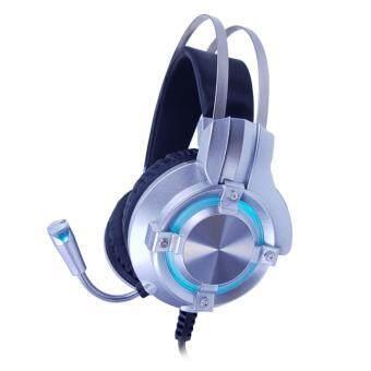 OKER X98 หูฟัง Stereo HeadSet มีไฟ LED - (สีเงิน)