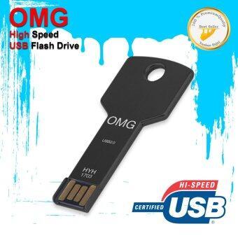 OMG Flash Drive HYH-1 64GB USB 2.0 Metal waterproof High Speed ดำ