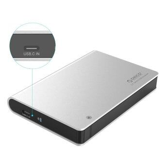 ORICO 2598C3 Aluminum Tool Free Type C USB 3.0 to SATA III ExternalHard Drive Enclosure for 2.5 inch HDD/SSD [ Optimized For SSD,Support UASP ]- Silver - Intl