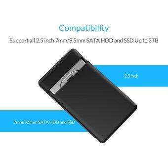 ORICO 2599US3-V1 Tool Free 2.5-Inch SATA 3.0 to USB 3.0 Hard DriveDisk HDD External Enclosure Case for 9.5mm 7mm SATA HDD and SSD -Black -1 YEAR