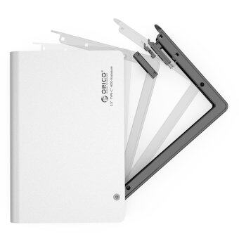 ORICO Aluminum Tool Free Type C USB 3.0 to SATA III External HardDrive Enclosure for 2.5 inch HDD/SSD [ Optimized For SSD, SupportUASP ]- Silver (2598C3)
