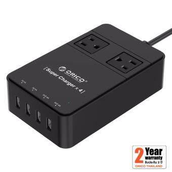 ORICO ปลั๊กไฟ 2 ช่อง + ชาร์จ USB 4 ช่อง TPC-2A4U (34W) 2.4A Max (สีดำ)