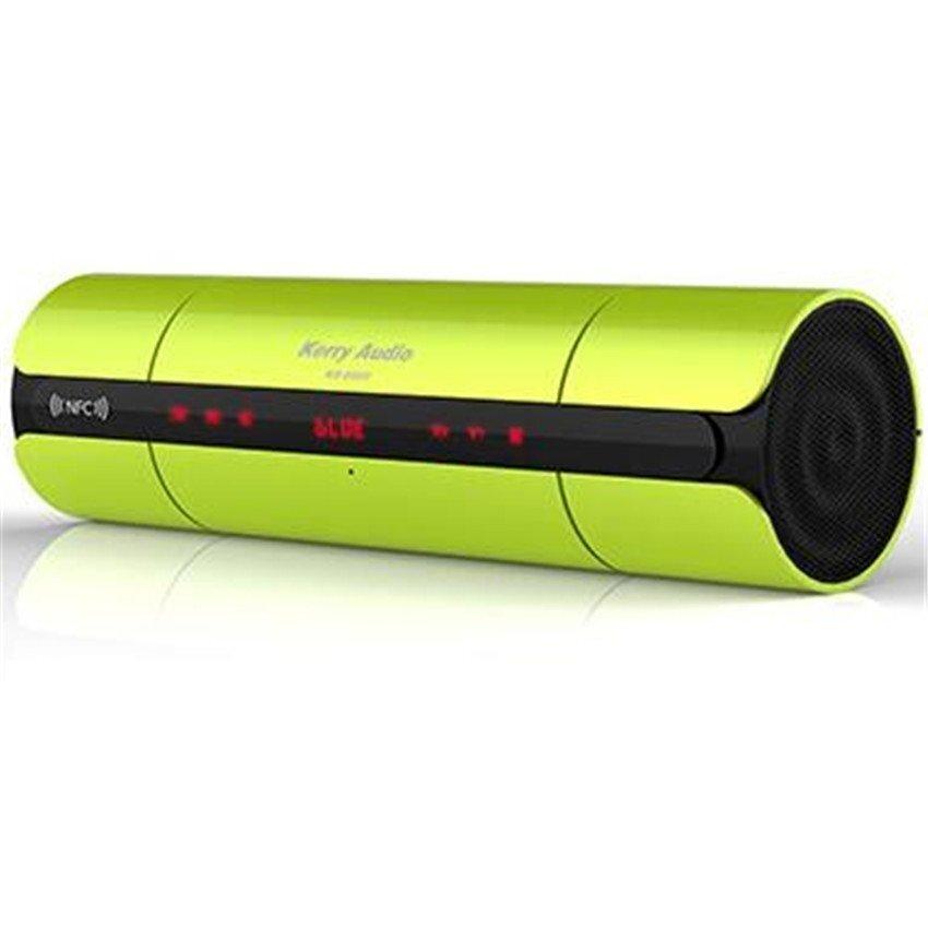 เก็บเงินปลายทางได้ เคอร์รี่แบบพกพา NFC FM HIFI Bluetooth ลำโพงไร้สาย (สีเขียว) - INTL
