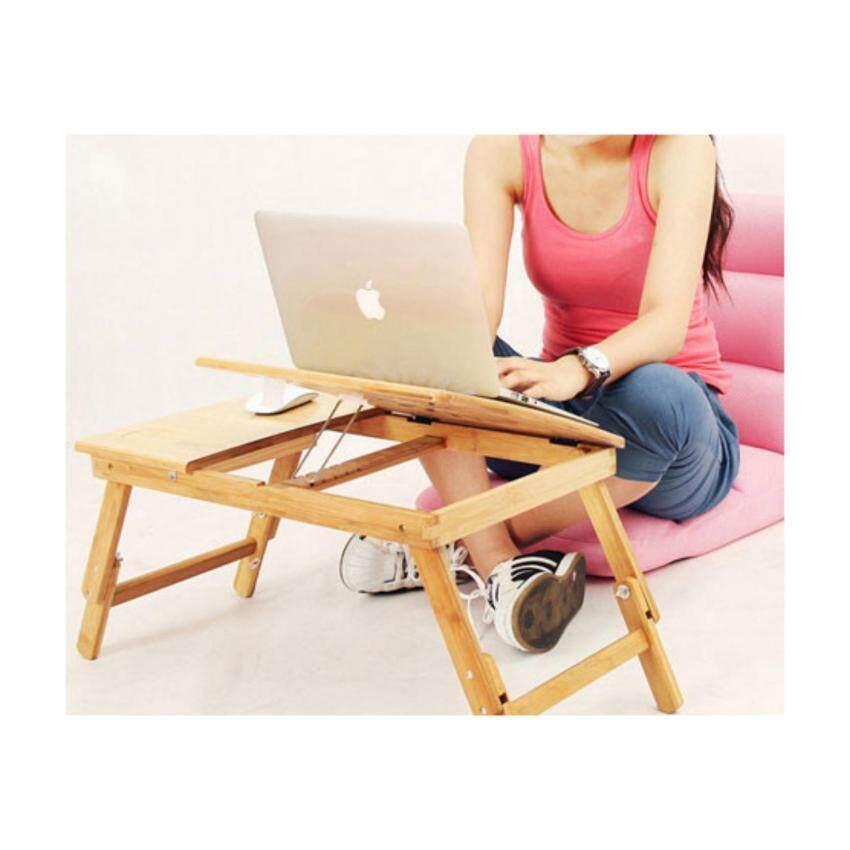 โต๊ะลายไม้พับได้สำหรับโน๊ตบุ๊ค มีพัดลมระบายความร้อนและลิ้นชัก พร้อมปรับระดับสูง ต่ำได้ รุ่น2ใบพัด ซื้อที่นี่ถูกกว่าร้านอื่น