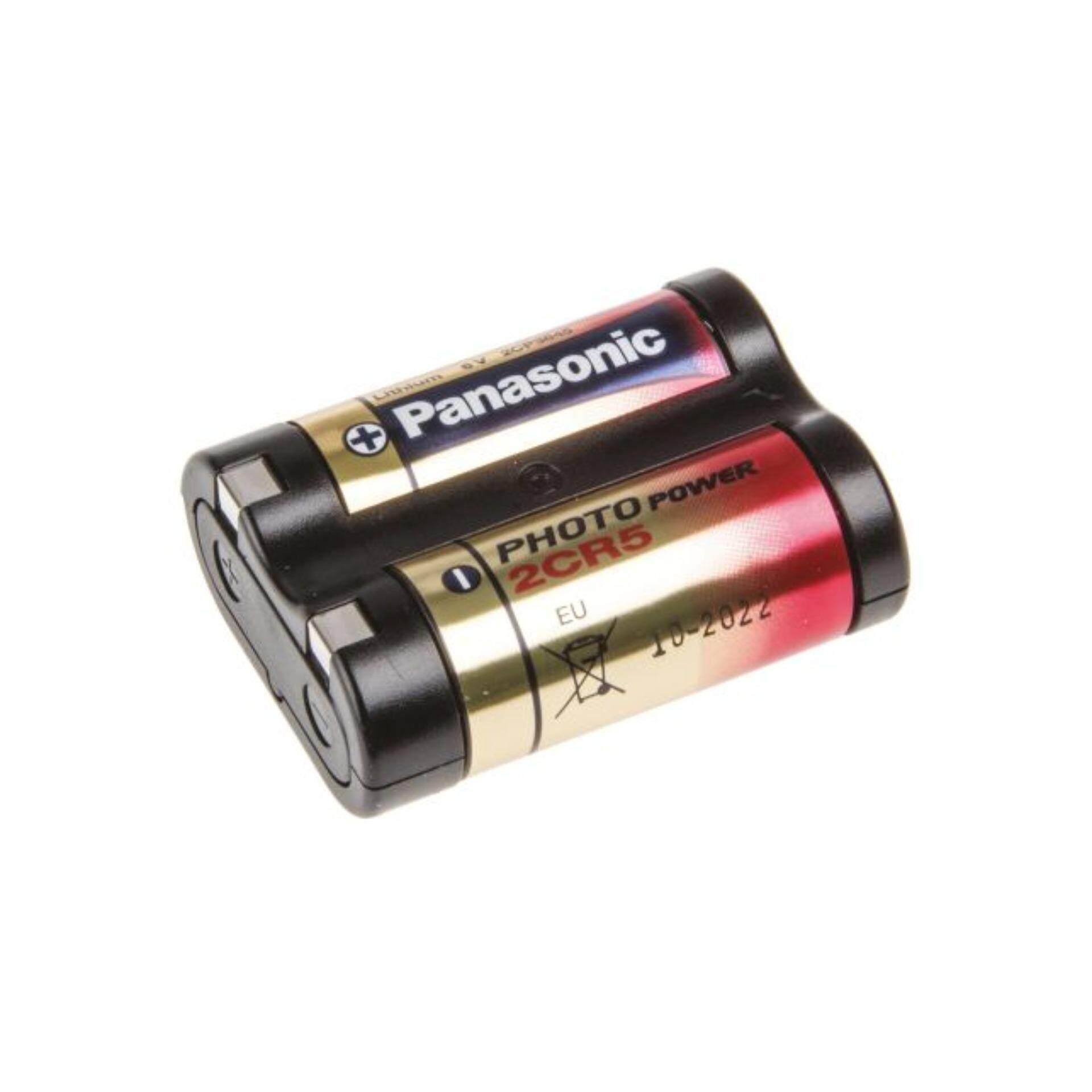 Panasonic ถ่านกล้องถ่ายรูป 2CR5 6V - สีดำแดง (3 ก้อน)