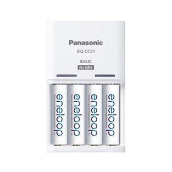 Panasonic ชุดชาร์จ Eneloop + ถ่านชาร์จ AA 4 ก้อน (สีขาว) (image 2)