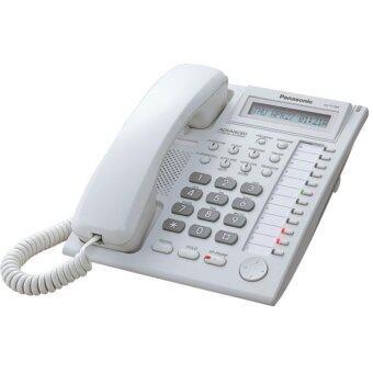 PANASONIC KX-T7730X โทรศัพท์คีย์อนาล็อค 12 ปุ่ม สีขาว ใช้ร่วมกับตู้สาขาโทรศัพท์Panasonic รุ่น KX-TEB/TES/TEMเท่านั้น