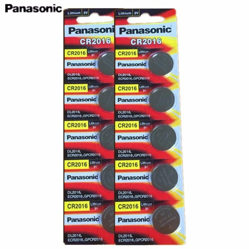 Panasonic ถ่านกระดุม lithium CR2016 (2 แพ็ค 10 ก้อน)