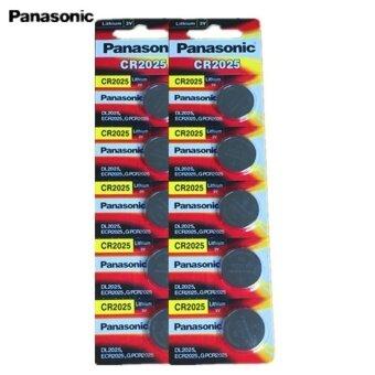 Panasonic ถ่านกระดุม lithium CR2025 (2 แพ็ค 10 ก้อน)