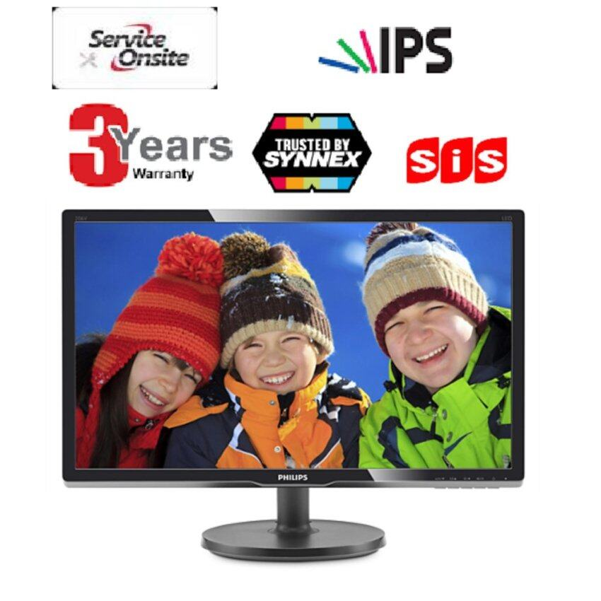 PHILIPS 206V6QSB6/97 LED 19.5 Monitor(Black) -3 Years(OnSite Service)