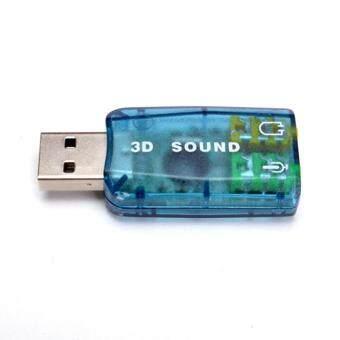 Plug and play Virtual 5.1-Surround USB 2.0 External Sound Card