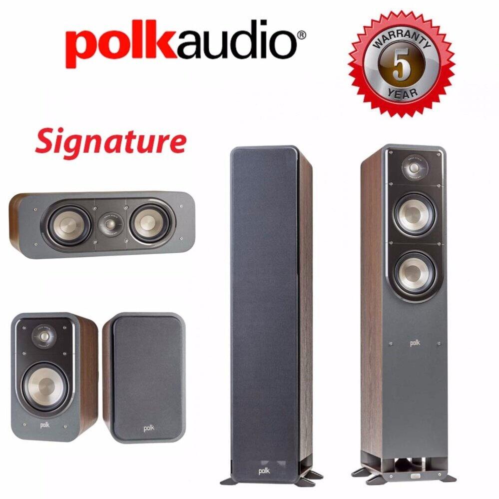 สอนใช้งาน  ปัตตานี Polk Audio Signature S50 + S15 + S30 Walnut