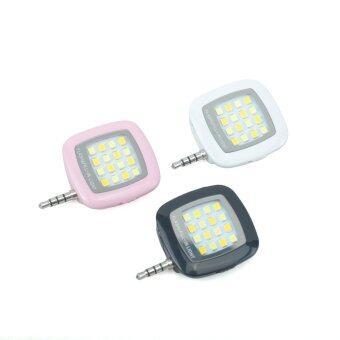 Portable Mini 16 LED Smart Selfie Flash Fill Light Lamp For iPhone iPad IOS Android White
