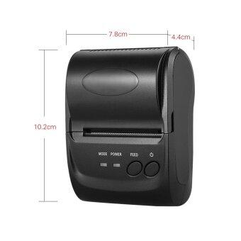 POS-5802DD Mini Portable Bluetooth USB Thermal Printer Receipt Ticket POS Printing for iOS Android Windows US Plug (Black) - intl - 4
