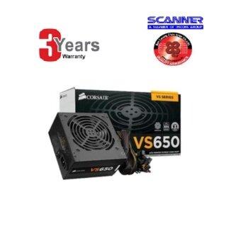 POWER SUPPLY (อุปกรณ์จ่ายไฟ) CORSAIR 650W VS650 (80+ 120mm Fan 230V EU) -3 YEARS(By ScannerBanLeaong)