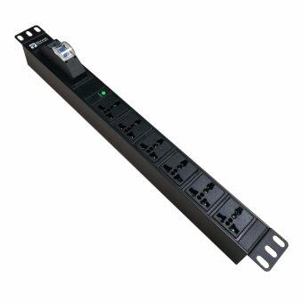 Premium PDU PowerConneX รางปลั๊กไฟ 6 ช่อง มีเบรกเกอร์ สายไฟยาว 3 เมตร รุ่น PXE2250W4-06AHMRMB ยี่ห้อ PowerconneX