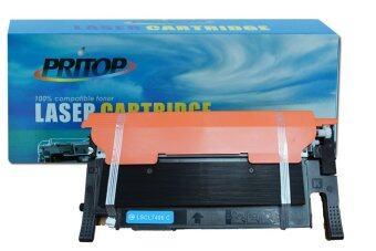 Pritop SAMSUNG CLP-360/365/368/CLX-3300/3305ใช้ตลับหมึกเลเซอร์เทียบเท่า รุ่น (SAMSUNG)CLT-C406S (C406) (สีฟ้า)