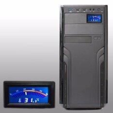 เครื่องวัดอุณหภูมิแบบดิจิตอลสเกล มีสายวัดอุณหภูมิ โชว์หน้าเคส คอมพิวเตอร์