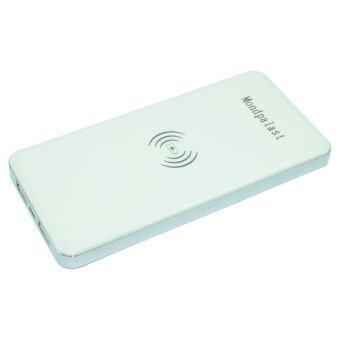 Qi Power bank ที่ชาร์จ Wireless 10000mAh สำหรับ Smartphone (สีขาว)