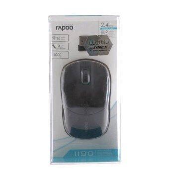 ประเทศไทย RAPOO Wireless Optical Mouse (MS1190-BK) Black