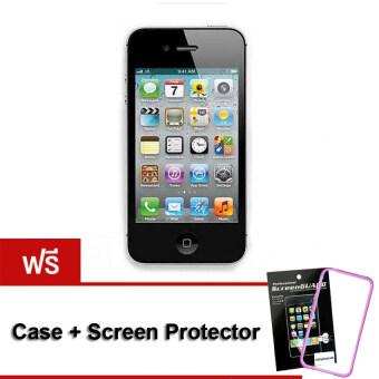 REFURBISHED Apple iPhone4S 16 GB (Black) Free Case+ScreenProtector